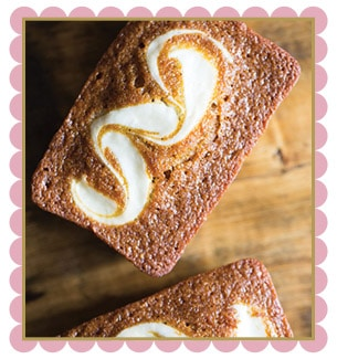 Reduced Fat Pumpkin Cream Cheese Loaf Cake