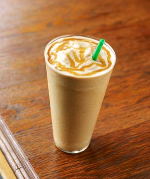 Coffee blended with caramel sauce, milk and ice – and fewer calories ...