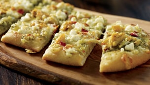 Artichoke and Goat Cheese Flatbread