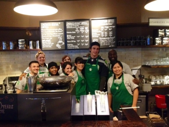 Luke Willson with the team at 6th & Union in Seattle.