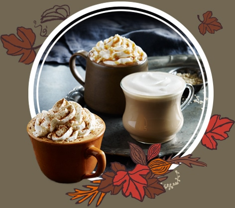Image of Fall Starbucks Espresso Beverages featuring the Pumpkin Spice Latte