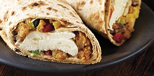 New Chicken Sausage & Veggie Wrap