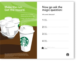 Starbucks Runner Reward Form
