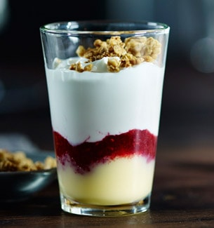 Greek Yogurt Raspberry Lemon Parfait