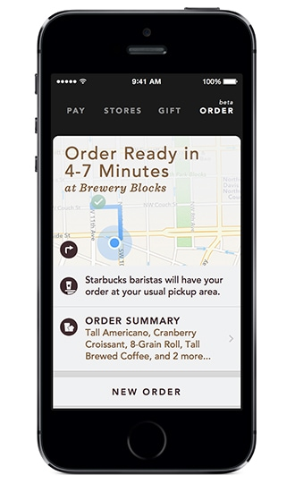 how to order decaf on starbucks app