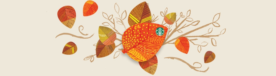 Image of the new Starbucks Fall themed Card for Sale