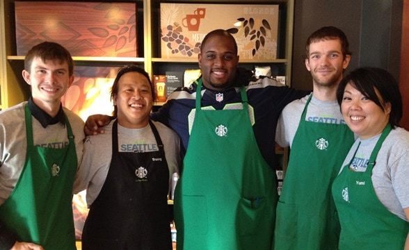 Brandon Mebane with the team at Rainier & Edmunds in Seattle.