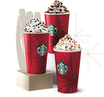 Starbucks holiday drinks in the Red Cups