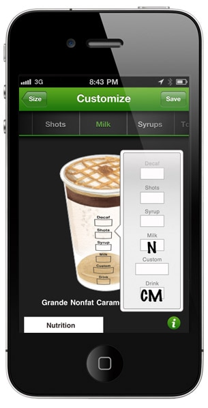 Build your favourite Starbucks drink and share it with friends.