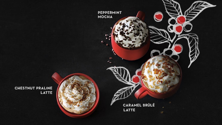 Starbucks Red cups and fall beverages