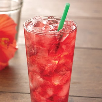 Iced Shaken Hibiscus Infusion