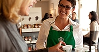 Starbucks Barista Working
