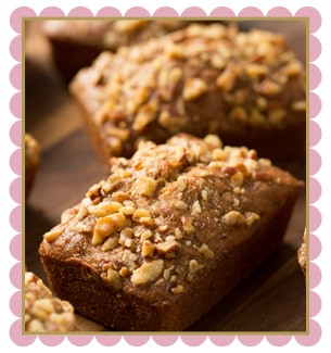 Banana Pecan Walnut Loaf Cakes