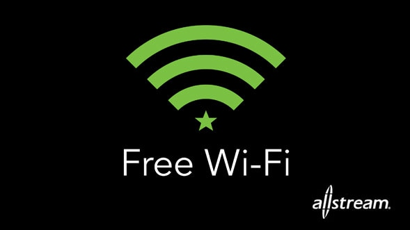 Free Wi-Fi provided by Allstream