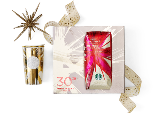 Image of Starbucks 30th Anniversary Christmas Blend Gift Set