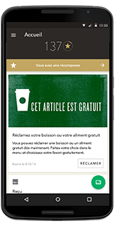 Application café Starbucks® pour AndroidMC