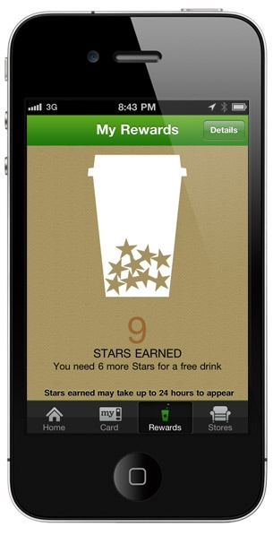 Track your Stars in the My Starbucks Rewards program