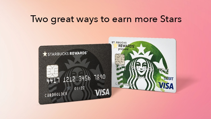 starbucks rewards visa cards starbucks coffee company - Prepaid Rewards Card