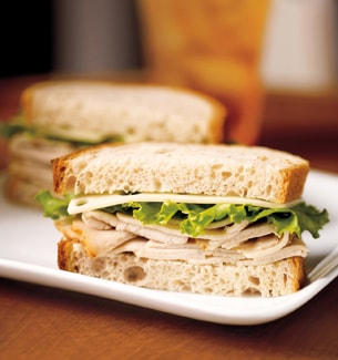 Turkey And Swiss With Grapes Sandwich Recipe — Dishmaps