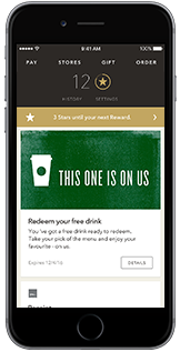 Starbucks for iPhone App