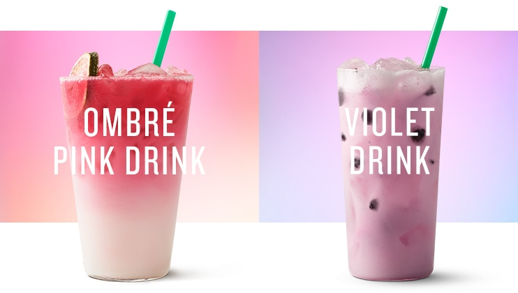 Ombré Pink Drink As Delicious It Is Gorgeous This Refreshing Combines Our Light Fruity Cool Lime Starbucks Refreshers Beverage With