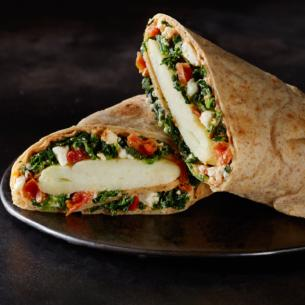 Spinach Feta Amp Cage Free Egg White Breakfast Wrap