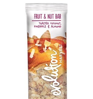 Evolution Harvest Fruit and Nut Bar, Toasted Coconut, Pineapple, and Almond