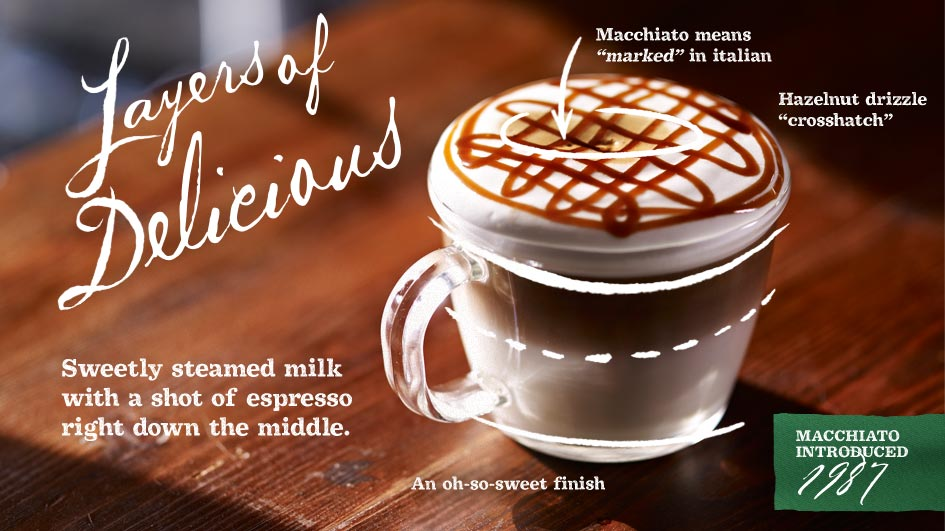 Macchiato Beverages from Starbucks