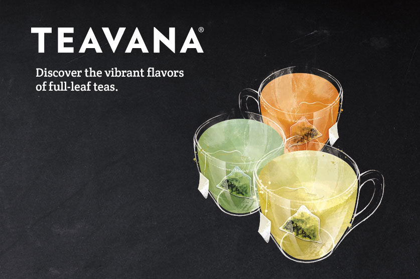 Hot brewed loose leaf tea from Teavana®