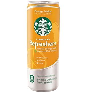 Starbucks Refreshers Orange Melon