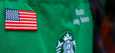Starbucks Veterans Green Apron