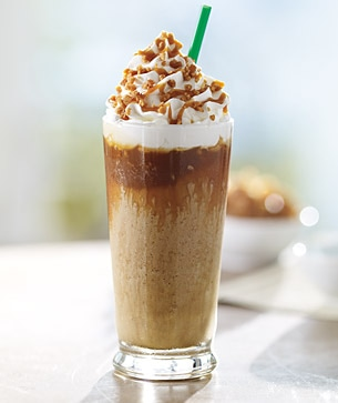 Caramel Ribbon Crunch Frappuccino® blended beverage