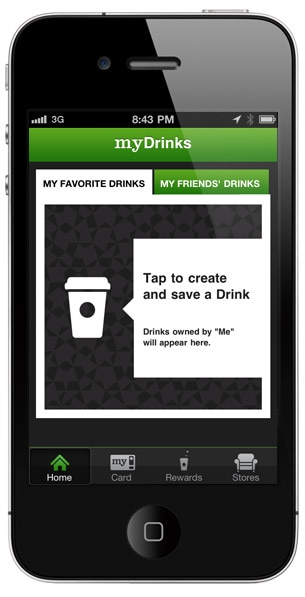Keep track of your favourite drinks or even a friend's