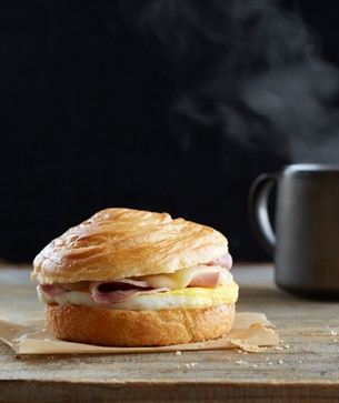 Slow-Roasted Ham & Swiss Breakfast Sandwich
