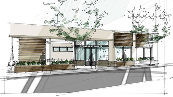 Proposed Storefront for 2201 Market Street Starbucks Store