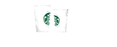 "Image of Starbucks cups for promotion with text, ""Starbucks Presents Meet Me at Starbucks"""