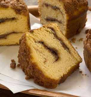Reduced-Fat Cinnamon Swirl Coffee Cake