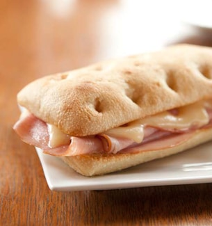 Ham and Swiss Panini