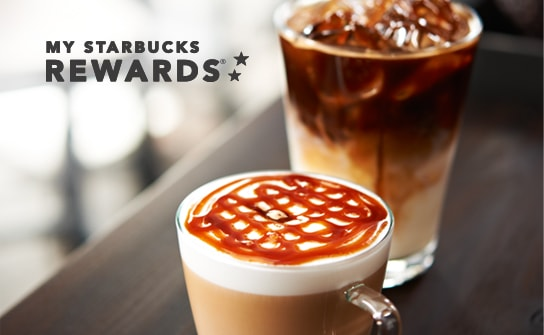 My Starbucks Rewards with hot and iced coffee image