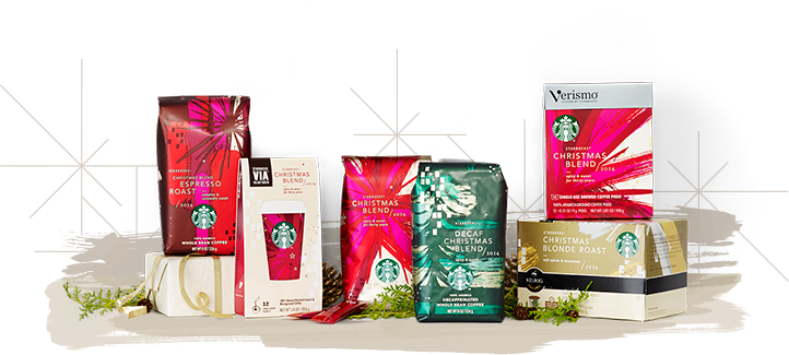 Image of Starbucks Christmas Blend in all offerings