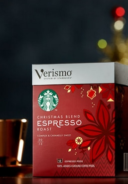 Starbucks® Christmas Blend Espresso Roast Verismo™ System Pods