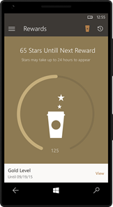 Starbucks® app for Windows® 10