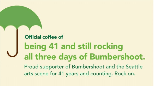 Official coffee of being 41 and still rocking all three days of Bumbershoot. Proud supporter of Bumbershoot and the Seattle arts scene for 41 years and counting. Rock on.