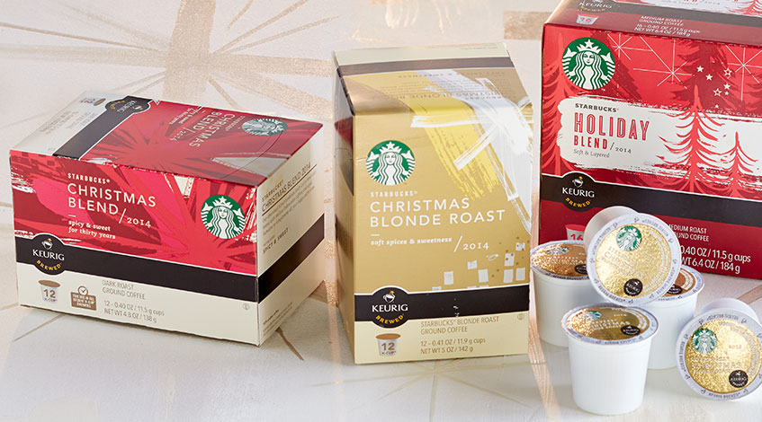 starbucks christmas blend and starbucks christmas blend blonde the convenience of a kcup pack - Starbucks Keurig Cups