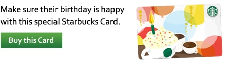 Birthday Starbucks Card