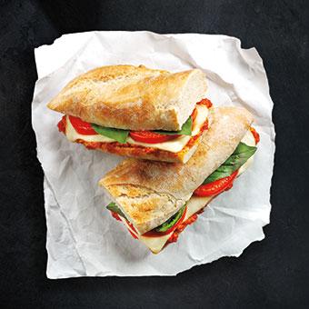 Pesto & Tomato Mozzarella Baguette