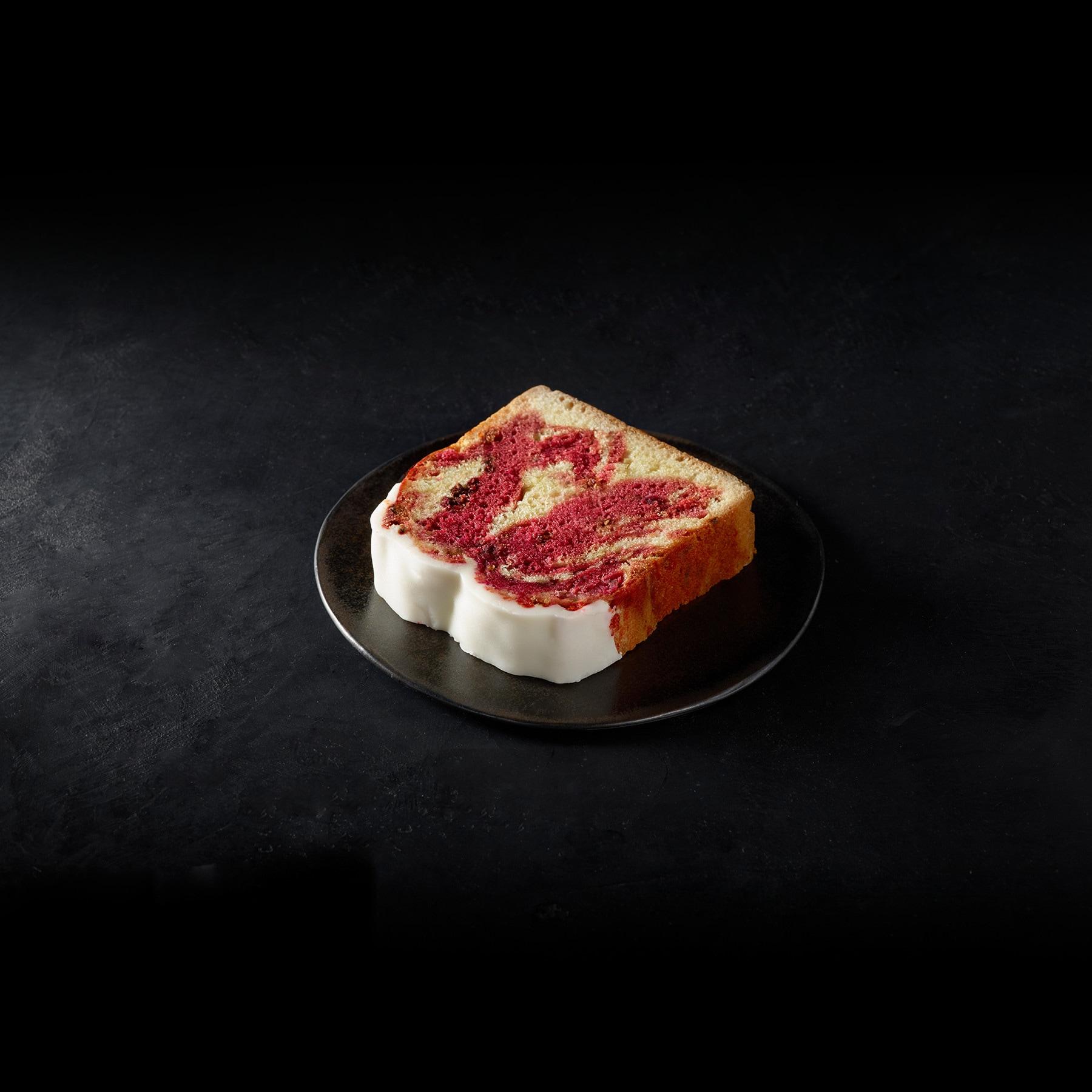 Raspberry Swirl Loaf Cake
