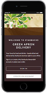 starbucks delivery The coffee giant launched a limited pilot delivery service wednesday in several neighborhoods in central seattle, enabling apple-device users to order on a starbucks app the company has partnered with postmates, an uber-like delivery service that relies on freelancers the effort here differs somewhat.