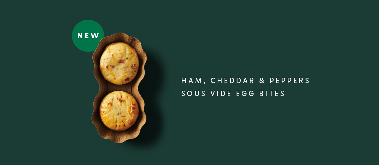 New: Ham, Cheddar & Peppers Sous Vide Egg Bites