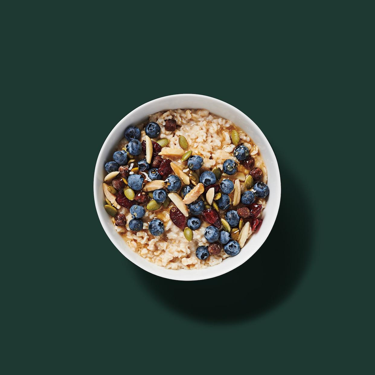 Hearty Blueberry Oatmeal: Starbucks